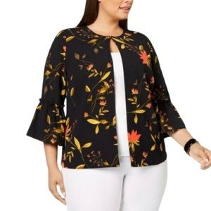 Alfani Golden Eclectic Floral Swing Jacket NWT